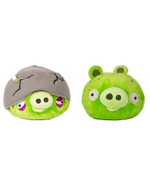 Angry Birds Soft Toys Pack Of 2 Green- 20 cm
