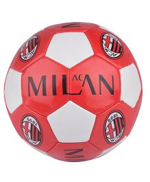 Kidsmojo A.C. Milan Print Football Size 5  - Red & White