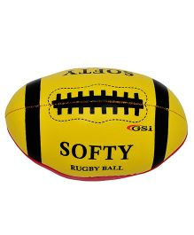 GSI Soft Rugby Ball - Yellow & Red