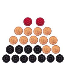 GSI Carrom Coins Pack of 24 - Multicolor