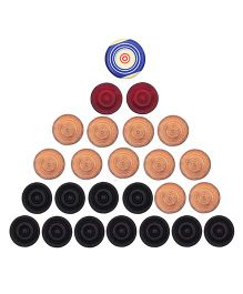 GSI Pool Ball Carrom Striker And Carrom Coins - Multicolor