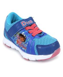 Dora Casual Shoes With Velcro Closure - Blue