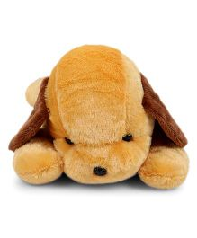 Tickles Soft Toy Adorable Lying Dog Golden Brown - 40 cm