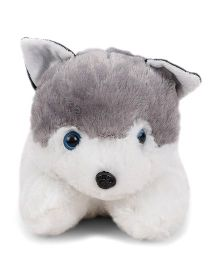 Tickles Soft Toy Husky Dog Grey And White - 23 cm