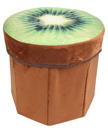 Dimpy Stuff Kiwi Shaped Foldable Stool - Brown