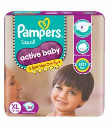 Pampers Active Baby Diapers XL Size - 56 Pieces