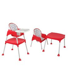 LuvLap 3 in 1 Baby High chair - Red