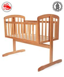 Babyhug Joy Cradle With Mosquito Net - Natural