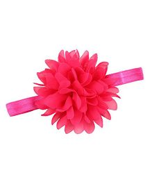 Bellazaara Petals Flower Design Elasticated Headband - Fushia