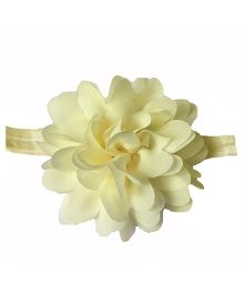 Bellazaara Petals Flower Design Elasticated Headband - Golden
