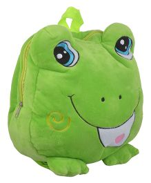 Soft Buddies Plush Soft Toy Bag With Froggy Design Green - 15 Inches