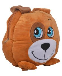 Soft Buddies Plush Soft Toy Bag With Doggy Design Brown - 15 Inches