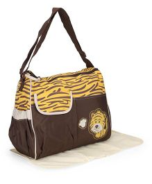 Diaper Mother Bag Tiger Print - Brown Yellow