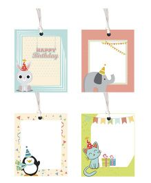 Little Jamun Cute Animal Theme Gift Tag - Set Of 8