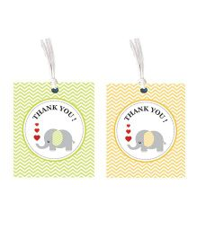 Thank You Gift Tag - Set Of 10