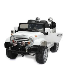 Marktech Battery Operated Ride On Jeep - White