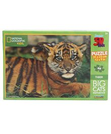 Prime 3D Big Cats Tigers Puzzle Multi Color - 48 Pieces