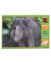 Prime 3D Elephant Puzzle Multi Color - 48 Pieces