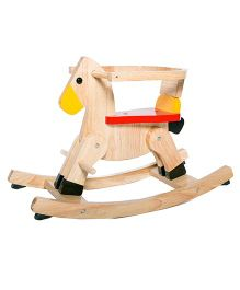Shumee Wooden Rocking Horse - Light Brown