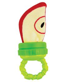 Sassy Apple Teether - red Green