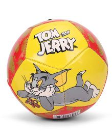 Tom & Jerry Printed Football Size 1 - Yellow Red