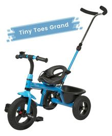 R for Rabbit Tiny Toes Grand Smart Plug N Play Tricycle - Blue Black