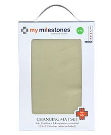 My Milestones Changing Mat Beige - Set Of 2