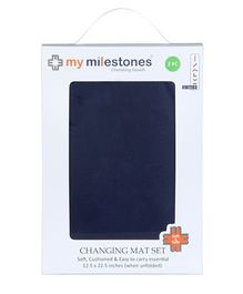 My Milestones Changing Mat Blue - Set Of 2