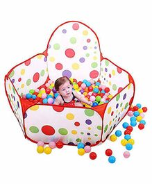 Webby Kids Play Ball Pit & 50 Balls - Multi Color