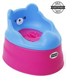 Babyhug Teddy Buddy Potty Chair - Blue Dark Pink