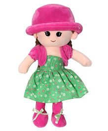 Soft Buddies Candy Doll With Cap Pink & Green - 40 cm