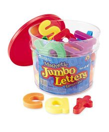 Learning Resources Jumbo Magnetic Lowercase Letters Multicolor - 40 Pieces