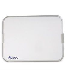 Learning Resources 9 x 12 Dry Erase Board, Magnetic white board on both side