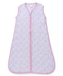 Hudson Baby Muslin Sleeping Bag - Pink
