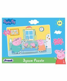 Frank Peppa Pig Jigsaw Puzzle Blue - 108 Pieces