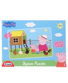 Frank Peppa Pig Jigsaw Puzzle Blue - 60 Pieces
