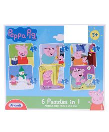 Frank Peppa Pig 6 In 1 Puzzle - Blue
