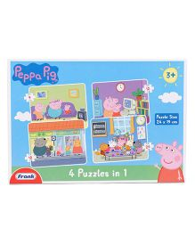 Frank 4 In 1 Peppa Pig Puzzle - 63 Pieces