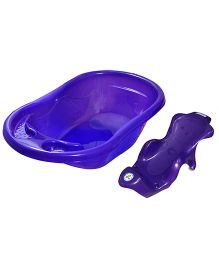 Sunbaby Bath Tub And Bath Sling - Purple
