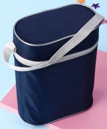 Insulated Double Bottle Bag Rectangular Shape - Navy