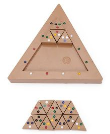 Ratnas Triangle Colour Match Puzzle - Brown