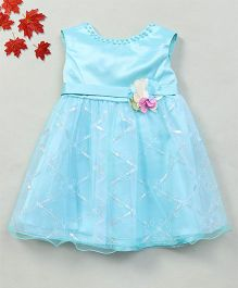 Party Princess Tutu Dress With Sequence - Green