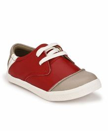 Tuskey Laceup Shoe - Red
