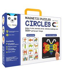 Play Panda Magnetic Puzzles Circle Multicolor - 200 Puzzles