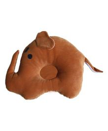 Amardeep Elephant Baby Pillow - Brown