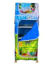 Playhood 5 Shelves Almirah My Zoo Print - Blue