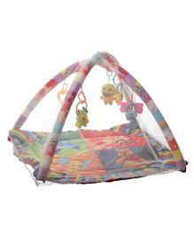 NHR Happy Play Gym With Mosquito Net - Multicolor