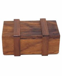 Desi Karigar Wooden Puzzle Magic Box - Brown