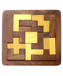 Desi Karigar Wood Jigsaw Puzzle - Brown