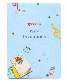 Archies Party Invitation Cards Pack Of 20 - Blue
